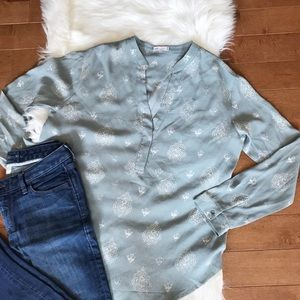 Gentle Fawn | Gray Printed Popover sz S